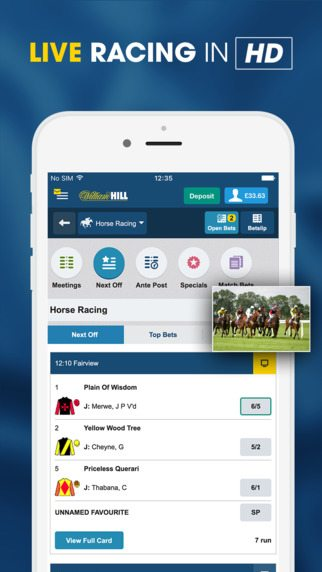 william hill live casino android app