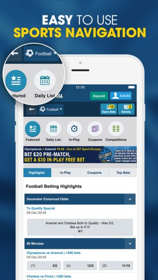 william hill betting app