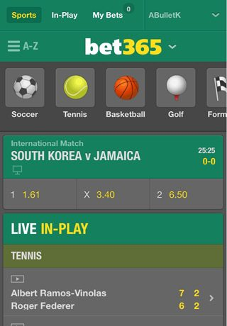 bet365-mobile-app-homepage-screenshot