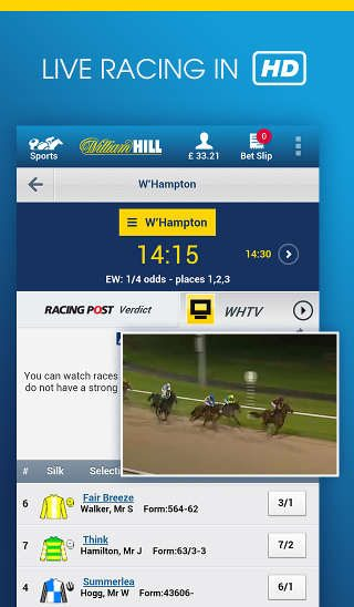 william hill racing app