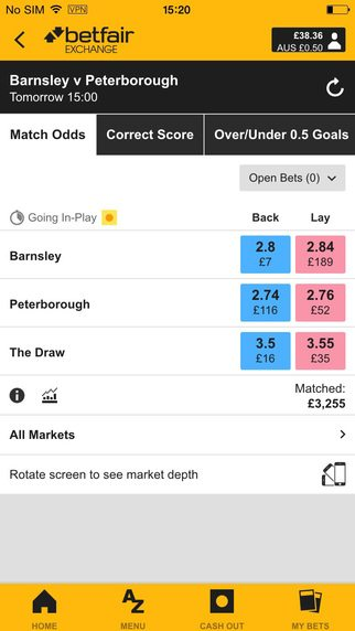 Betfair Exchange Games App
